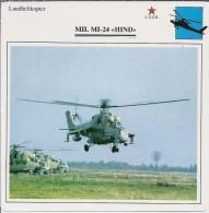 Helikopter.- MIL MI-24 - HIND - U.S.S,R,. Sovjet-Unie. 2 Scans - Helikopters