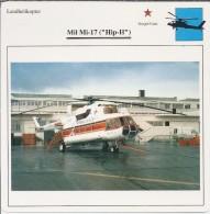 Helikopter.- Helicopter - MIL MI-17 - Hip-H - U.S.S,R,. Sovjet-Unie. 2 Scans - Helikopters