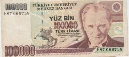 TURQUIE 100000 Lira 1991 P205 VG+ - Turquie