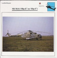 Helikopter.- Helicopter - MIL MI-8 - Hip-E En Hip-F - U.S.S,R,. Sovjet-Unie. 2 Scans - Helikopters