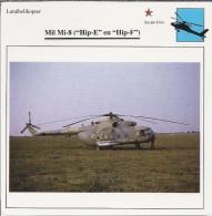 Helikopter.- Helicopter - MIL MI-8 - Hip-E En Hip-F - U.S.S,R,. Sovjet-Unie. 2 Scans - Hélicoptères