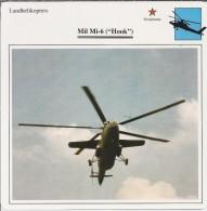 Helikopter.- Helicopter - MIL MI-6 - Hook - U.S.S,R,. Sovjet-Unie. 2 Scans - Helikopters