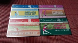 SET4 Cards  Gymnastic Worldcups S20-S21-S22-S 23 Used Rare