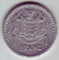 - MONACO - Louis II Prince De Monaco - 1 Franc - - Monaco