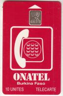 BURKINA FASO - Onatel Logo(red), Chip SC5, CN : C4C100976, Used - Burkina Faso