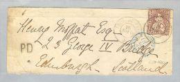 Heimat VD Tour De Peilz 1868-08-10 >Scotland Edinburgh Zu#43 - 1862-1881 Helvetia Seduta (dentellati)