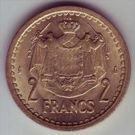 - MONACO - Louis II Prince De Monaco - 2 Francs - SPL - - Monaco