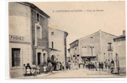 Hérault : Castelnau-de-Guers : Place Du Marché - Castelnau Le Lez