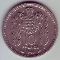 - MONACO - Louis II Prince De Monaco - 10 Francs. 1946 - SUP - - Monaco