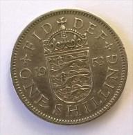 Monnaie - Grande-Bretagne - 1 Shilling 1953 - - 1902-1971 : Monnaies Post-Victoriennes