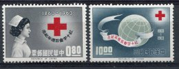1963-TAIWAN-RED CROSS-CROIX ROUGE- 2 VAL.M.N.H. -LUXE ! - 1945-... Republic Of China
