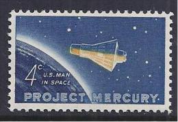 ESPACIO - ESTADOS UNIDOS 1961 - Yvert#725 - Espacio