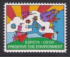 MEDIO AMBIENTE - ESTADOS UNIDOS 1974 - Yvert #1014 - MNH ** - Protección Del Medio Ambiente Y Del Clima
