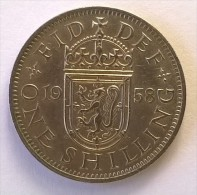 Monnaie - Grande-Bretagne - 1 Shilling 1958 - - 1902-1971 : Monnaies Post-Victoriennes