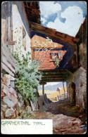 Grödnerthal, Tyrol, Künstler-Postkarte, Partie, Ca. 1910,Gröden,Südtirol, Grödner Tal, - Bolzano (Bozen)