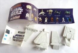 PAS KINDER RARE VAISSEAU TOMBOLA STAR WARS 1997 COMPLET AVEC BPZ NAVETTE THYRYDIUM - Puzzles
