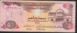 U.A.E.   P19b   5   DIRHAMS   2001   FINE  Writtings - Emirats Arabes Unis