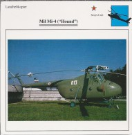 Helikopter.- Helicopter - MIL MI-4 - Hound - U.S.S,R,. Sovjet-Unie. 2 Scans - Helikopters