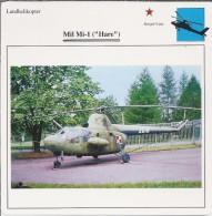 Helikopter.- Helicopter - MIL MI-1 - Hare - U.S.S,R,. Sovjet-Unie. 2 Scans - Helikopters