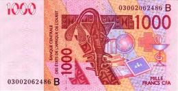 West African States - Afrique De L´ouest Bénin 2003 Billet 1000 Francs Pick 215 A Neuf 1er Choix UNC - Benin