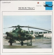 Helikopter.- Helicopter - MIL MI-28 - Havoc - U.S.S,R,. Sovjet-Unie. 2 Scans - Helicopters