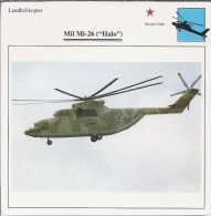 Helikopter.- Helicopter - MIL MI-26 - Halo - U.S.S,R,. Sovjet-Unie. 2 Scans - Helikopters