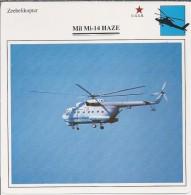 Helikopter.- Helicopter - MIL MI-14 - Haze - U.S.S,R,. Sovjet-Unie. 2 Scans - Helikopters
