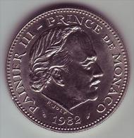 - MONACO - Rainier III Prince De Monaco - 5 Francs. 1982 - SUP - - Monaco