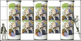 BRD - Michel 10x 3211 (Bogen) - ** Postfrisch - Ernst Litfaß - Ausgabe 11.02.2015 - [7] West-Duitsland
