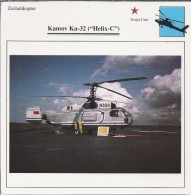 Helikopter.- Helicopter - Kamov Ka-32 - Helix-C - U.S.S,R,. Sovjet-Unie. 2 Scans - Helicopters