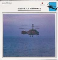 Helikopter.- Helicopter - Kamov Ka-25 - Hormone - U.S.S,R,. Sovjet-Unie. 2 Scans - Helikopters