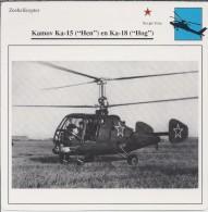 Helikopter.- Helicopter - Kamov Ka-15 - Hen - U.S.S,R,. Sovjet-Unie. 2 Scans - Helicopters