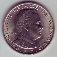 - MONACO - Rainier III Prince De Monaco - 1 Franc. 1977 - SPL - - Monaco