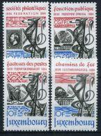 LUXEMBOURG ( POSTE ) : Y&T N°  1041/1044  TIMBRES  NEUFS  SANS  TRACE  DE  CHARNIERE , A  VOIR .