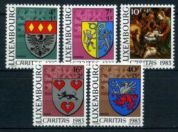 LUXEMBOURG ( POSTE ) : Y&T N°  1036/1040  TIMBRES  NEUFS  SANS  TRACE  DE  CHARNIERE , A  VOIR .