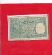 Billet De 20 Francs BAYARD  ( C4=7=1916) N° 339J19  2 Scan A Voir - 1871-1952 Circulated During XXth