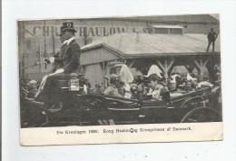 TRONDJHEM FRA KRONINGEN 1906 KONG HAAKONOG KONPRINSEN AF DANEMARK - Norvège