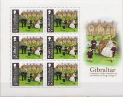 Gibraltar MNH King George V. Set In Sheetlets Of 6 Stamps - Royalties, Royals