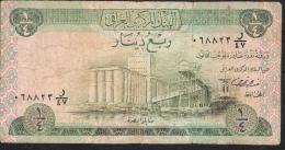 IRAQ  P61   1/4   DINAR   1973 Signature 18   FINE - Irak