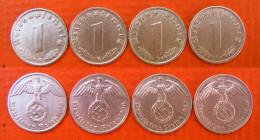 4 X 1 Rpf Drittes Reich 1937 - 1940 Schön !     (A71) - 1 Reichspfennig