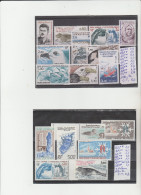 TIMBRES DU (TAFF) NEUF ** LUXE   LOT  ANNEES -1983-86 NR 103 A 124 18 VALEURS    COTE TOTAL 27,20€ - Neufs