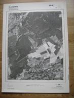 GRAND PHOTO VUE AERIENNE 66 Cm X 48 Cm De 1979  NANDRIN YERNEE FRAINEUX - Cartes Topographiques