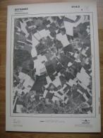 GRAND PHOTO VUE AERIENNE 66 Cm X 48 Cm De 1981 ESTINNES ROUVEROY - Cartes Topographiques