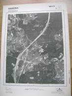 GRAND PHOTO VUE AERIENNE 66 Cm X 48 Cm De 1985 FERRIERES WERBEMONT - Cartes Topographiques