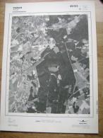 GRAND PHOTO VUE AERIENNE 66 Cm X 48 Cm De 1985 THEUX THEUX - Cartes Topographiques