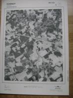 GRAND PHOTO VUE AERIENNE 66 Cm X 48 Cm De 1979  HANNUT HANNUT - Cartes Topographiques