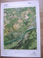 GRAND PHOTO VUE AERIENNE 66 Cm X 48 Cm De 1979  WANZE BAS OHA - Cartes Topographiques