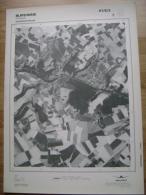 GRAND PHOTO VUE AERIENNE 66 Cm X 48 Cm De 1979  BURDINNE OTEPPE - Cartes Topographiques