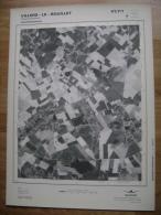 GRAND PHOTO VUE AERIENNE 66 Cm X 48 Cm De 1979  VILLERS LE BOUILLET VAUX ET BORSET - Cartes Topographiques