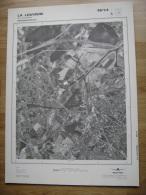 GRAND PHOTO VUE AERIENNE 66 Cm X 48 Cm De 1979  LA LOUVIERE - Cartes Topographiques